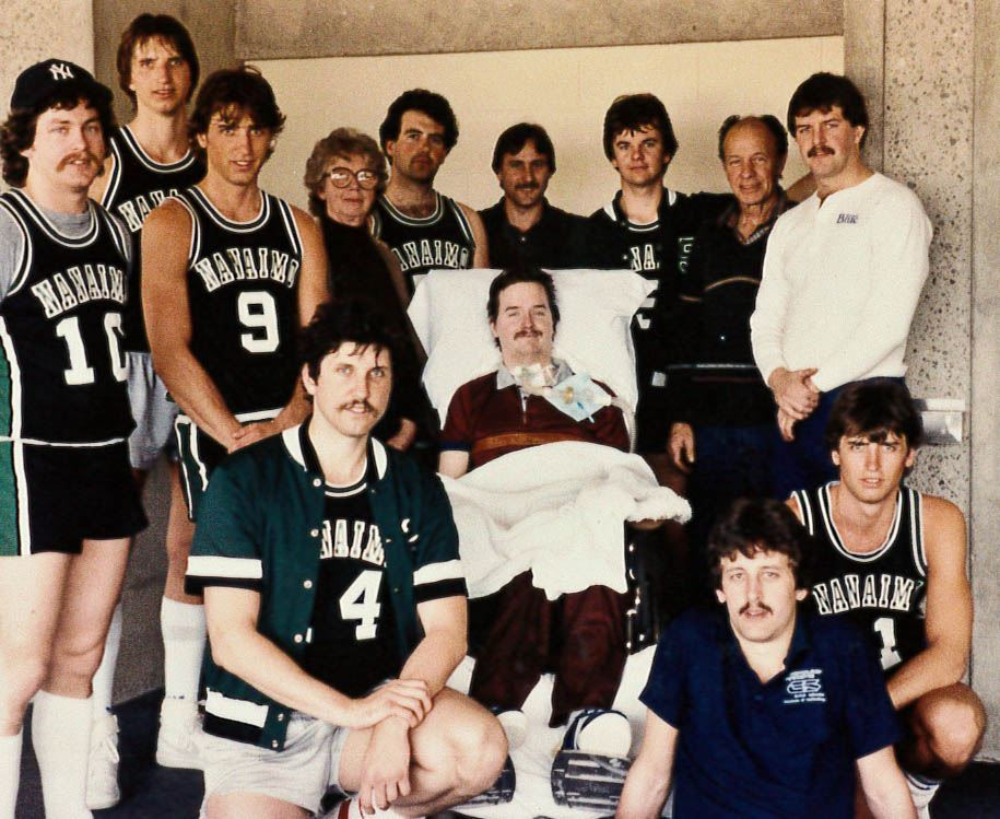 Neil Squire and his Basketball Team